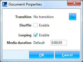 Document Properties dialog